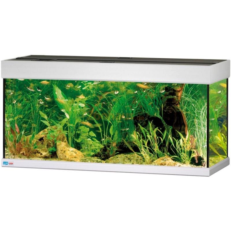 Scubaline 140 aquarium mit abdeckung dekor alugrau von for Aquarium abdeckung