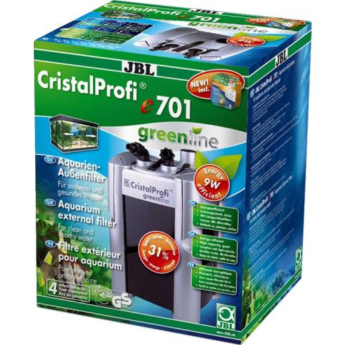 JBL CristalProfi e701 Aquarium Außenfilter Greenline mit Filtermaterial