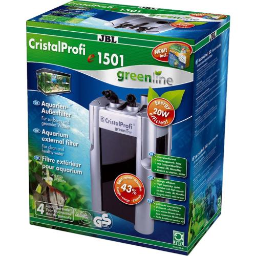JBL CristalProfi e1501 Aquarien Außenfilter Greenline mit Filtermaterial