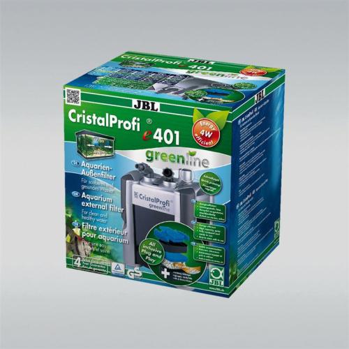 JBL CristalProfi e401 Aquarium Außenfilter Greenline mit Filtermaterial