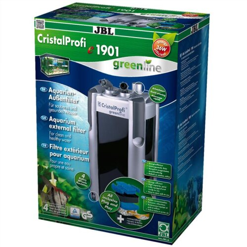 JBL CristalProfi e1901 greenline including filter pulp (UK-Plug)