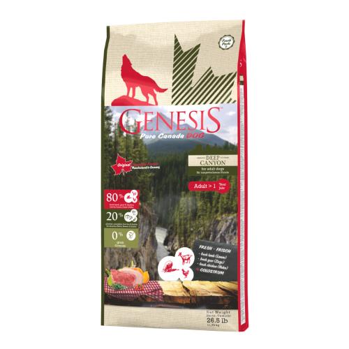 Genesis Pure Canada Dog Hundefutter - Deep Canyon für ausgewachsene Hunde 11,79 kg