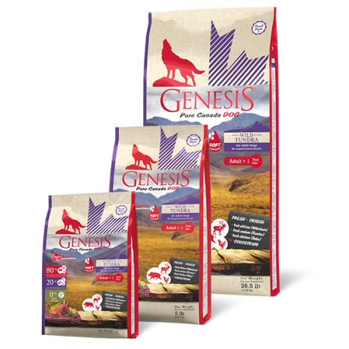 Genesis Hundefutter Pure Canada Dog - Wild Tundra / Taiga (Soft) für ausgewachsene Hunde