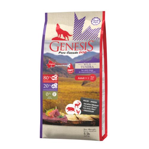 Genesis Hundefutter Pure Canada Dog - Wild Tundra / Taiga (Soft) für ausgewachsene Hunde 2,268 kg