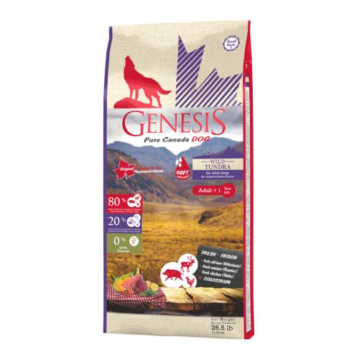 Genesis Pure Canada Dog - Wild Tundra / Taiga (Soft) für ausgewachsene Hunde 11,79 kg
