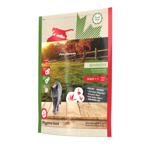 Genesis Pure Canada Cat - My green field (Sensitive) für sensible Katzen 2,267 kg