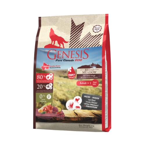 Genesis Hundefutter Pure Canada Dog - Broad Meadow (Soft) für ausgewachsene Hunde 907 g