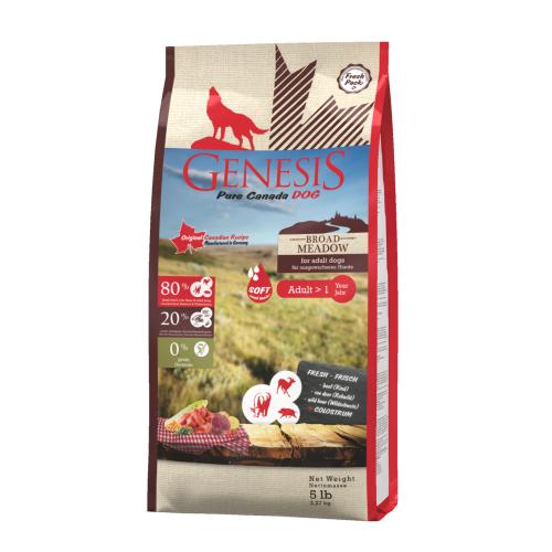 Genesis Hundefutter Pure Canada Dog - Broad Meadow (Soft) für ausgewachsene Hunde 2,268 kg